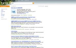 Page de résultat de Microsoft Bing