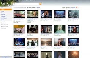 Recherche de vidéo sur Microsoft Bing