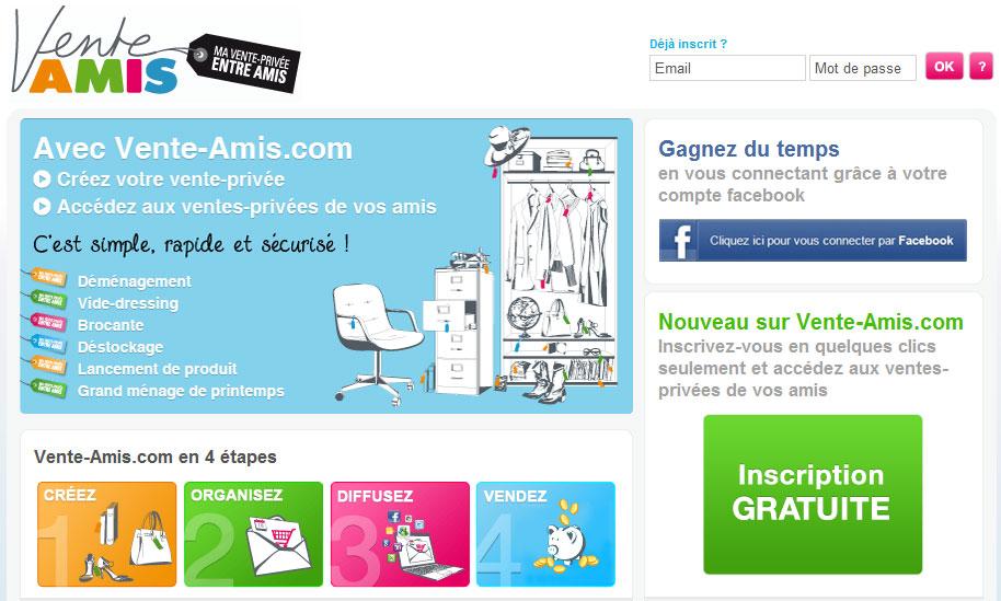 R alisez vos ventes priv es entre amis actualit s web 2 - Vente privee site internet ...